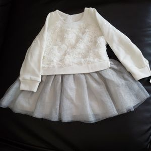 Cat & Jack cream colored baby dress